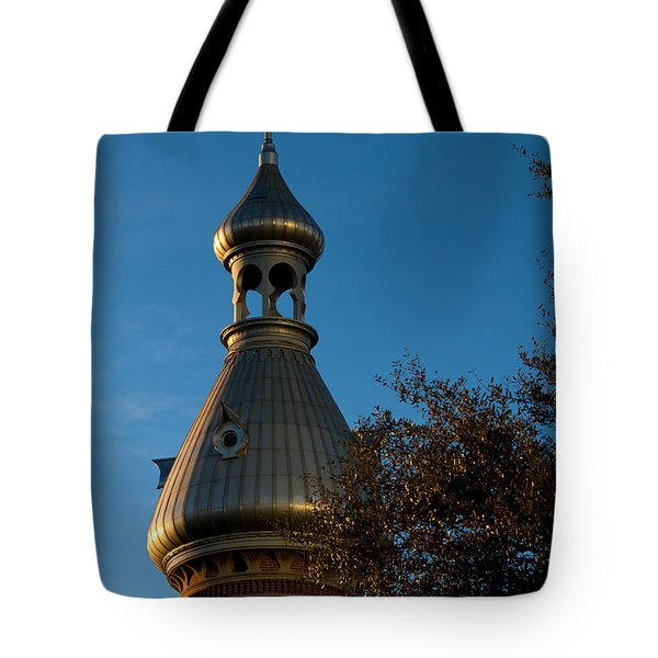 Tote Bag featuring the photograph Minaret And Trees by Ed Gleichman