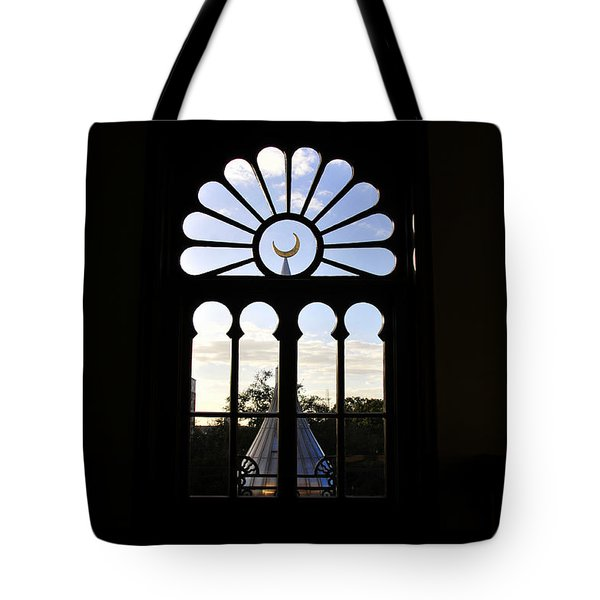 Minaret Through Window Tote Bag by David Lee Thompson