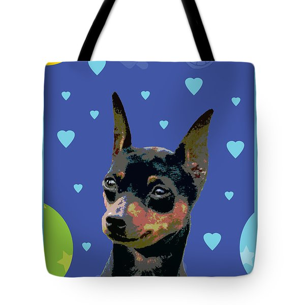 Minature Pinscher Tote Bag by One Rude Dawg Orcutt