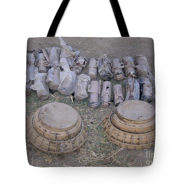 Mines And Grenades Tote Bag by Stocktrek Images
