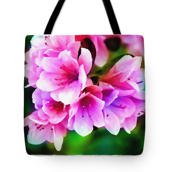 Miniature Azaleas Tote Bag by Judi Bagwell