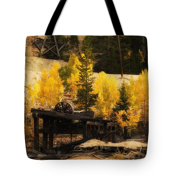 Tote Bag featuring the photograph Mining Town by Angelique Olin