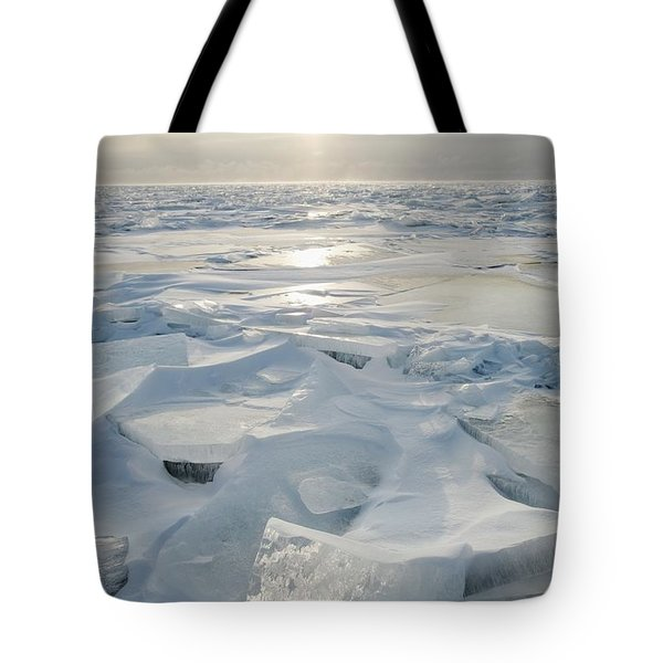 Tote Bag featuring the photograph Minnesota, United States Of America Ice by Susan Dykstra
