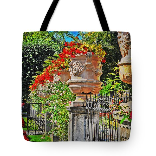 Mirabell Gardens In Salzburg Hdr Tote Bag by Mary Machare