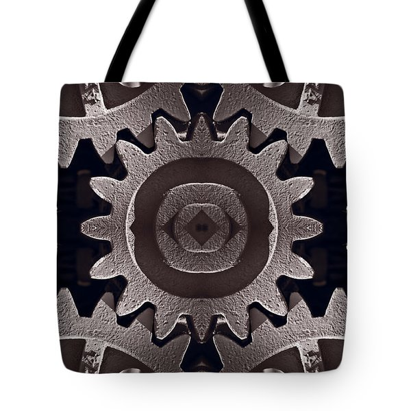 Mirror Gears Tote Bag by Steve Gadomski