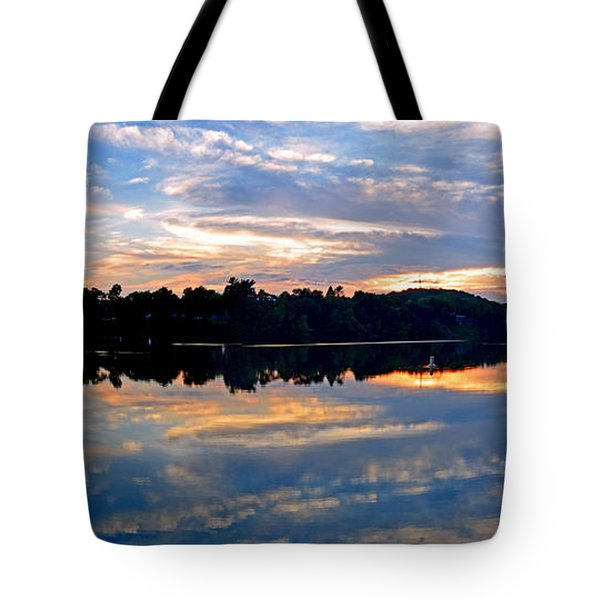 Mirror Mirror On The Water Tote Bag by Sue Stefanowicz