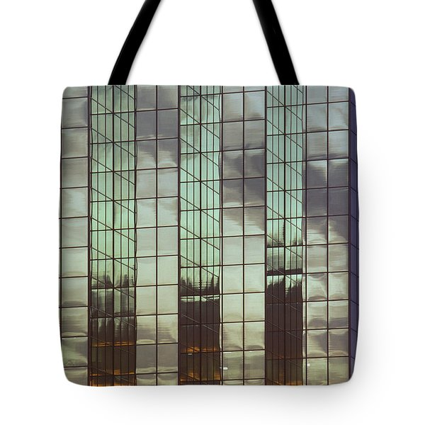 Mirrored Building Tote Bag by Mark Greenberg