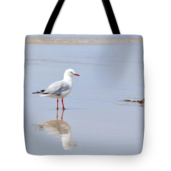 Mirrored Seagull Tote Bag by Kaye Menner