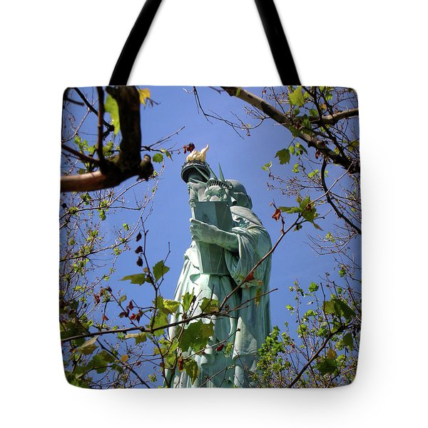 Tote Bag featuring the photograph Miss Liberty by Paul Mashburn
