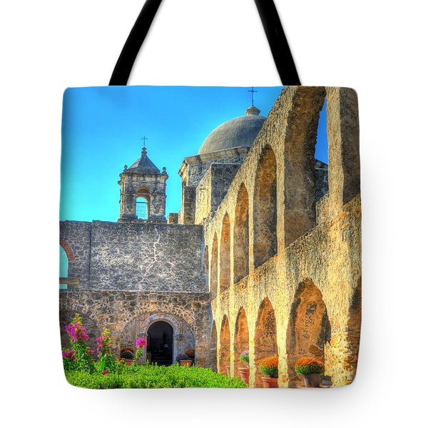 Mission Courtyard Tote Bag