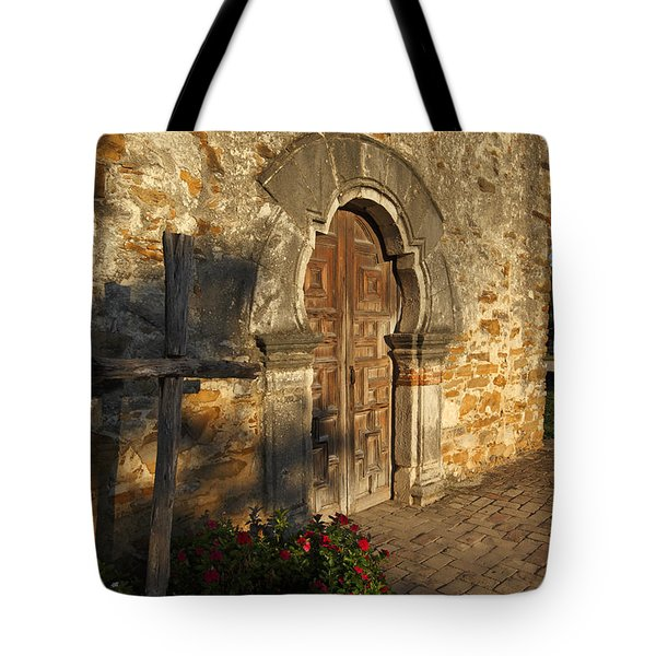 Tote Bag featuring the photograph Mission Espada by Susan Rovira
