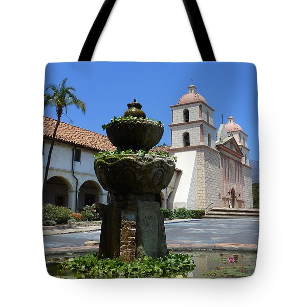 Mission Fountain Tote Bag by Methune Hively
