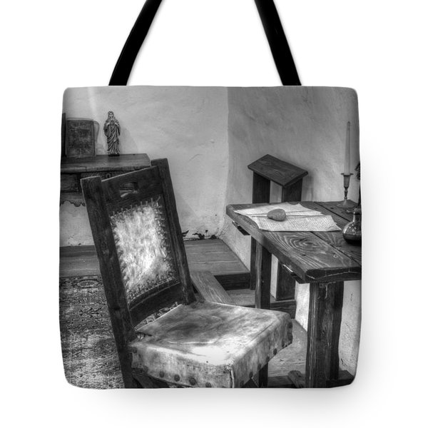 Mission San Diego De Alcala Writing Table Tote Bag by Bob Christopher