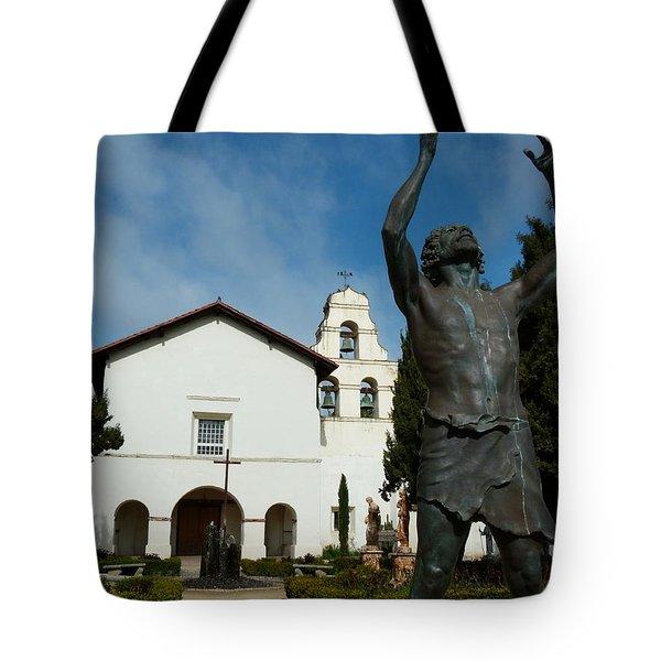 Mission San Juan Bautista Tote Bag by Jeff Lowe
