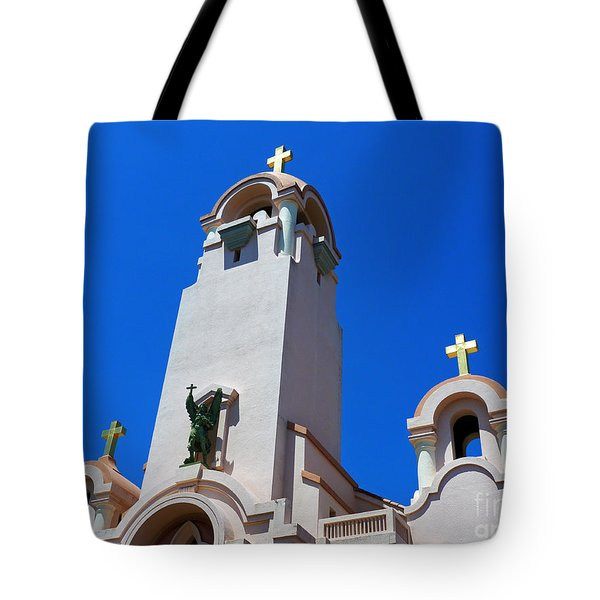 Mission San Rafael Arcangel Tote Bag by Methune Hively