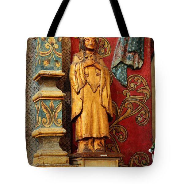 Mission San Xavier Del Bac - Interior Detail II Tote Bag by Suzanne Gaff