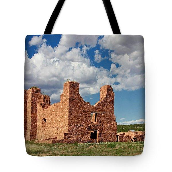 Mission To Quarai New Mexico Tote Bag by Christine Till