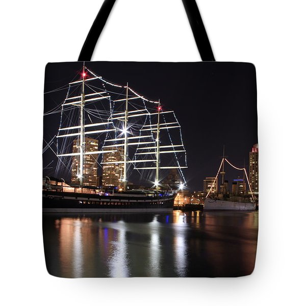Tote Bag featuring the photograph Missoula At Nighttime by Alice Gipson