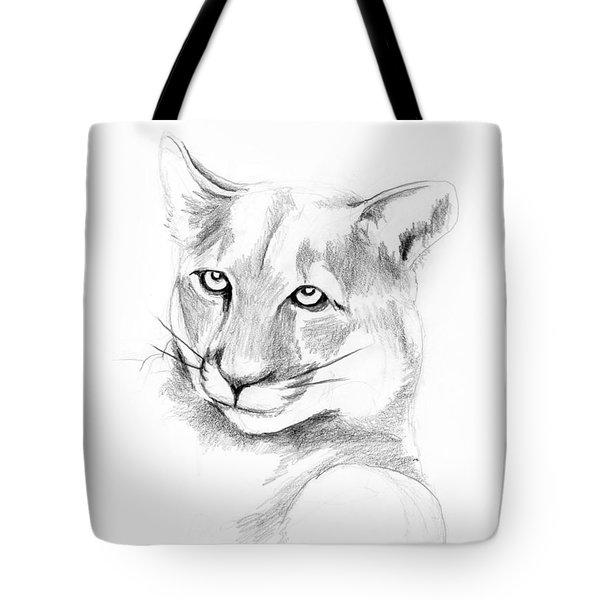 Missouri Mountain Lion  Tote Bag by Kip DeVore