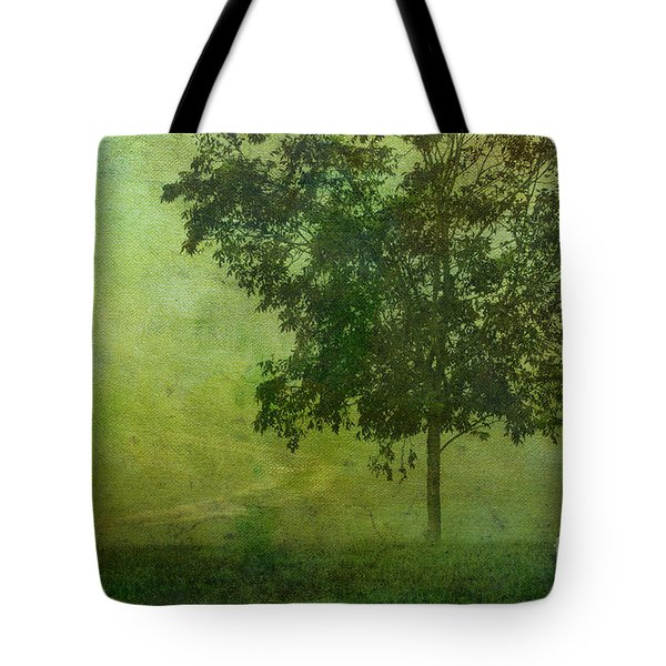 Misty Country Lane Tote Bag by Judi Bagwell
