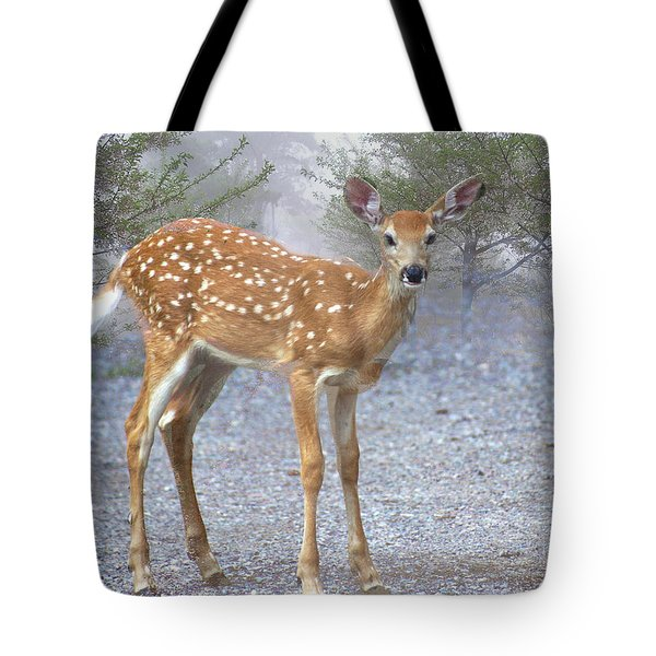 Misty Fawn Tote Bag by Marty Koch