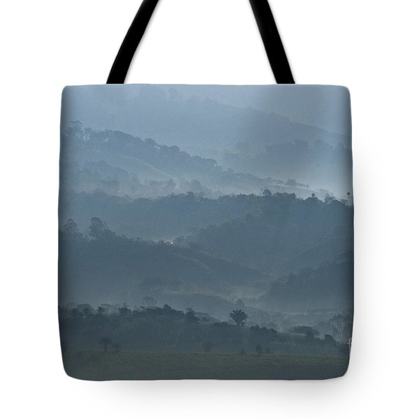 Misty Hills Of Chiriqui Tote Bag by Heiko Koehrer-Wagner
