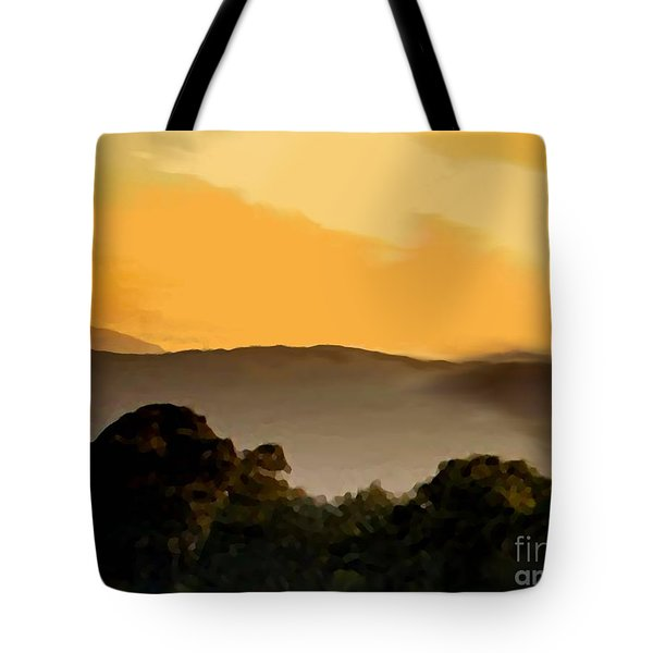 Misty Horizon Tote Bag