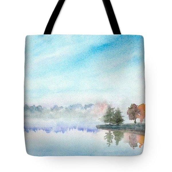 Misty Lake Tote Bag by Yoshiko Mishina