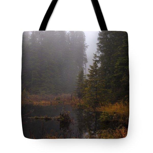 Misty Solitude Tote Bag by Mike Reid