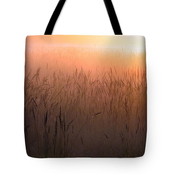 Tote Bag featuring the photograph Misty Sunrise by I'ina Van Lawick