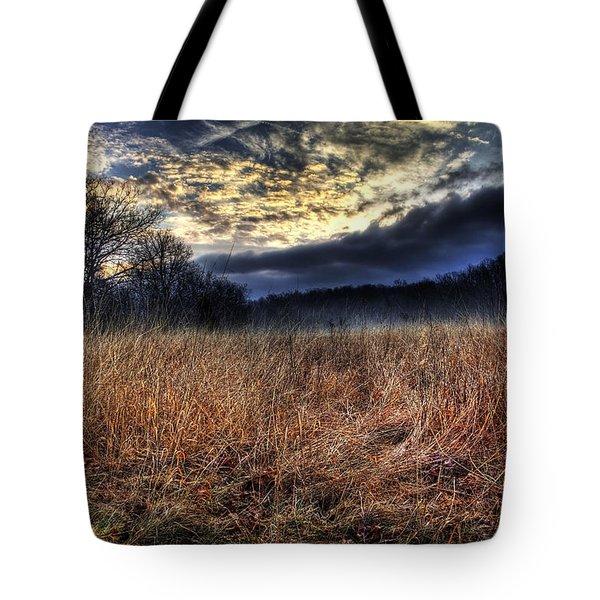 Misty Sunrise Tote Bag by Mark Six