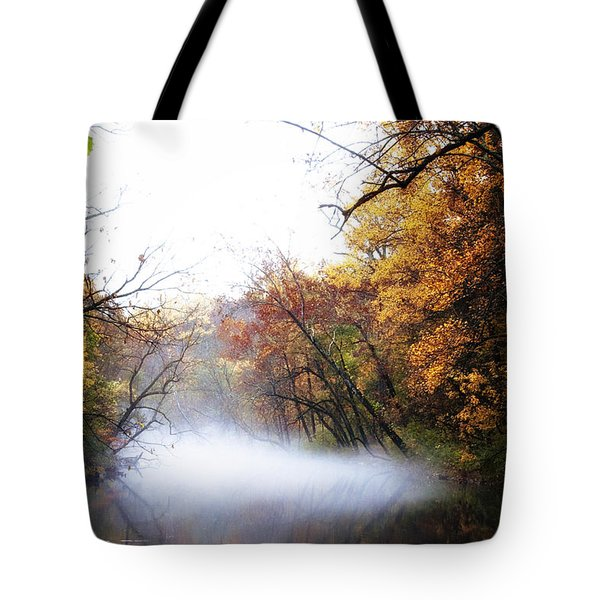Misty Wissahickon Tote Bag by Bill Cannon