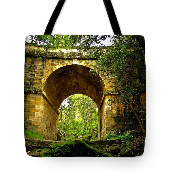 Mitchells Pass Bridge Lapstone A Convict Built Bridge Tote Bag