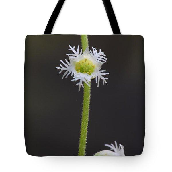 Miterwort Flowers Tote Bag