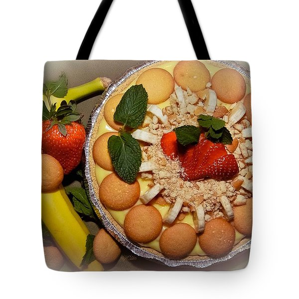 Mmm Nana Puddin Pie Tote Bag by DigiArt Diaries by Vicky B Fuller