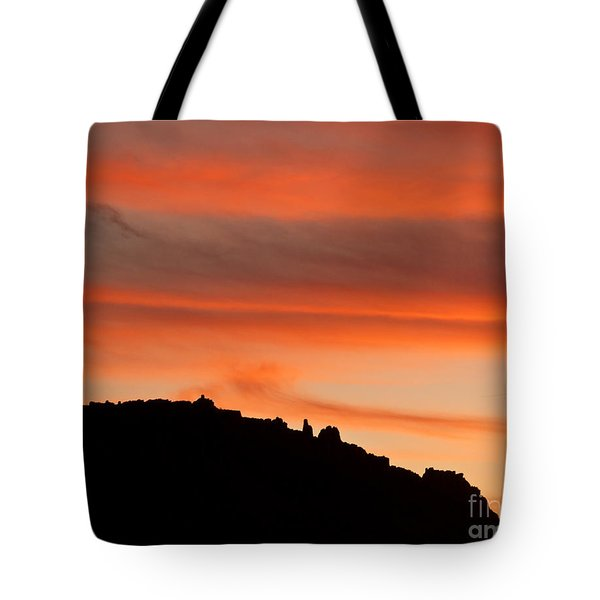 Moab Rim Sunset Tote Bag by Bob and Nancy Kendrick