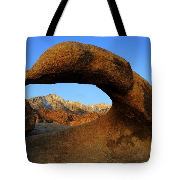 Mobius Arch California Tote Bag by Bob Christopher