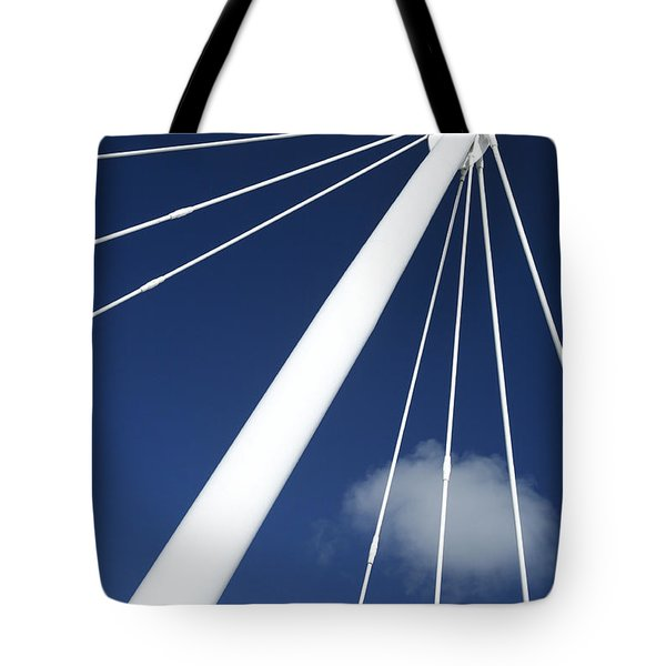Modern Abstract Structure Tote Bag by Gaspar Avila