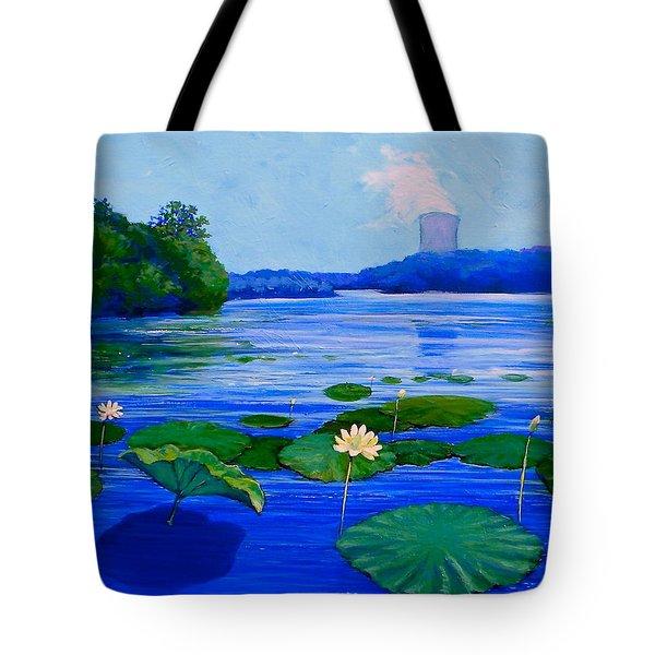 Modern Mississippi Landscape Tote Bag