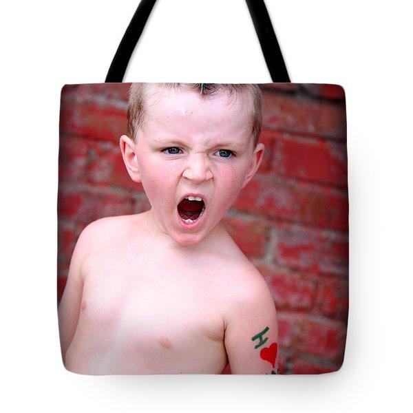 Mohawk Boy Tote Bag by Kelly Hazel
