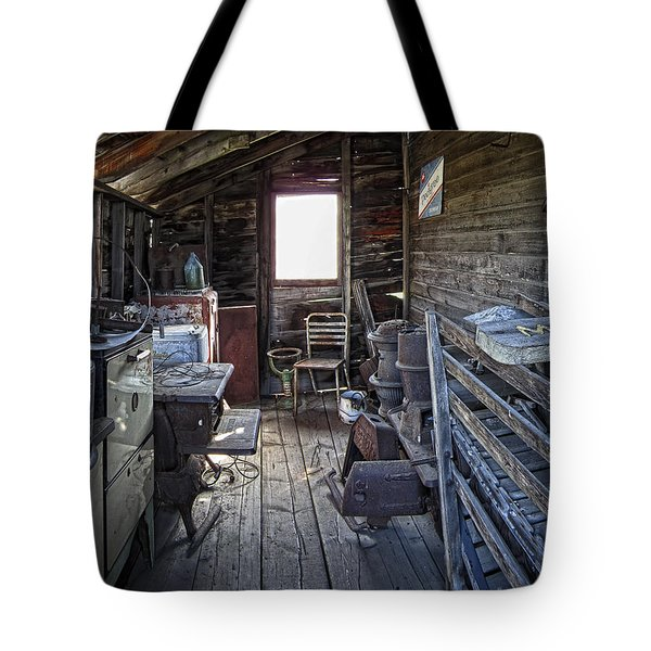 Molson Ghost Town Storage Shed Tote Bag by Daniel Hagerman