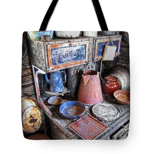 Molson Ghost Town Stove - Washington Tote Bag by Daniel Hagerman