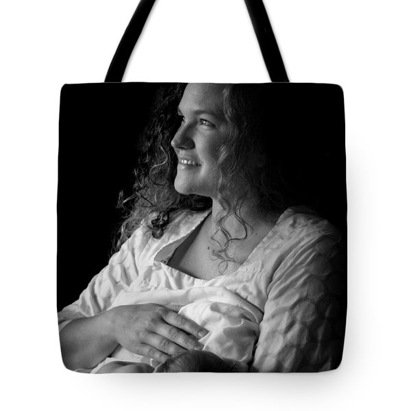 Mom And Baby Tote Bag by Kelly Hazel