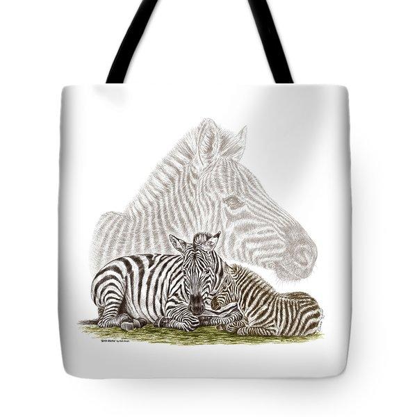 Mom And Baby Zebra Art Tote Bag