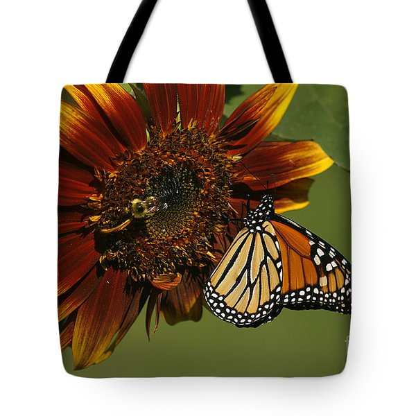 Monarch And The Bee Tote Bag