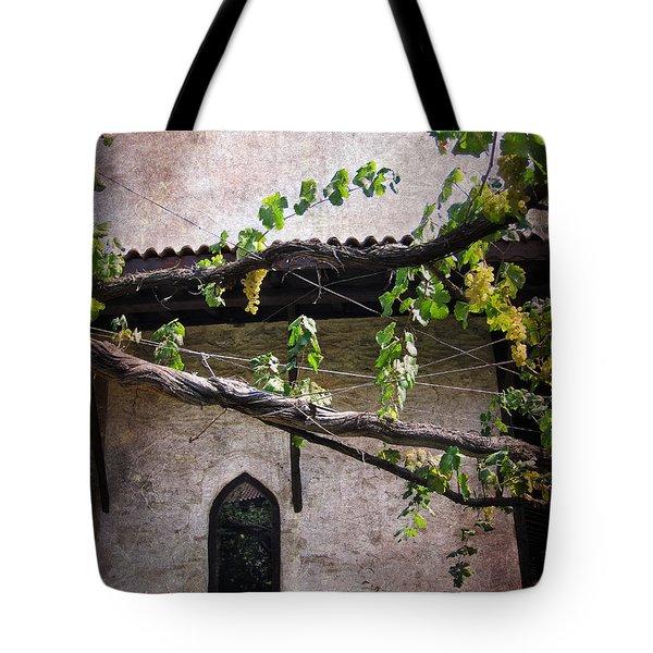 Monastery Garden Tote Bag