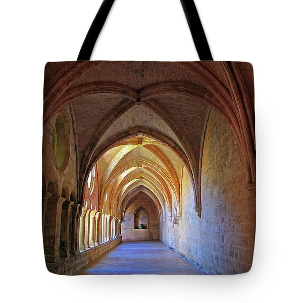 Tote Bag featuring the photograph Monastery Passageway by Dave Mills