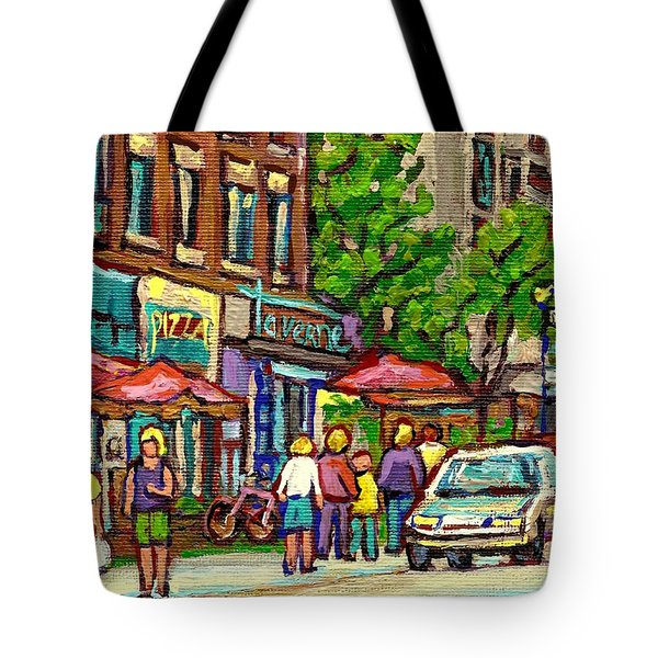 Monkland Tavern Tote Bag by Carole Spandau