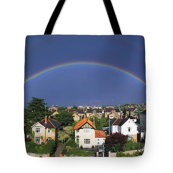Monkstown, Co Dublin, Ireland Rainbow Tote Bag by The Irish Image Collection