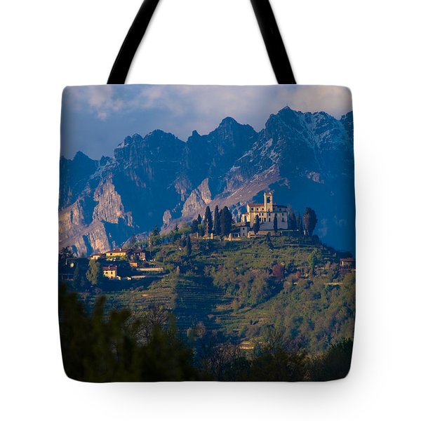 Montevecchia And Resegone Tote Bag by Marco Busoni